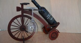Free cnc cut wood file wine holder bike