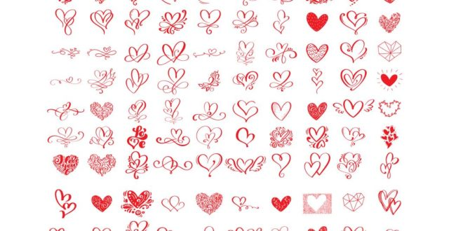 Super Bundle 110 hearts pack DXF SVG Cricut Silhouette