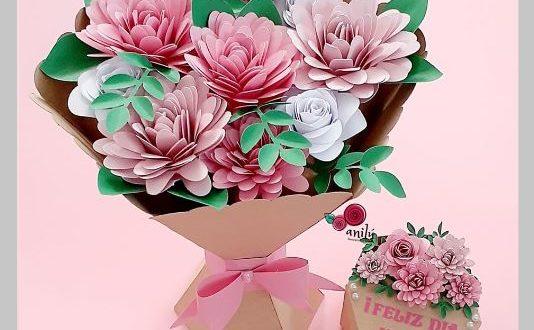 Silhouette studio cut paper bouquet of flowers .studio3 file