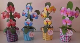 Free paper craft in silhouette studio orchids flowers .studio3 download file to cut