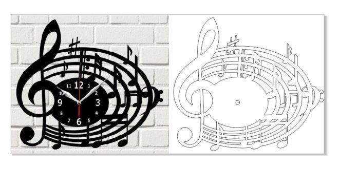 Free laser cut clock music