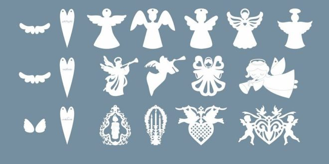 Free pack Christmas silhouettes vectors to cut