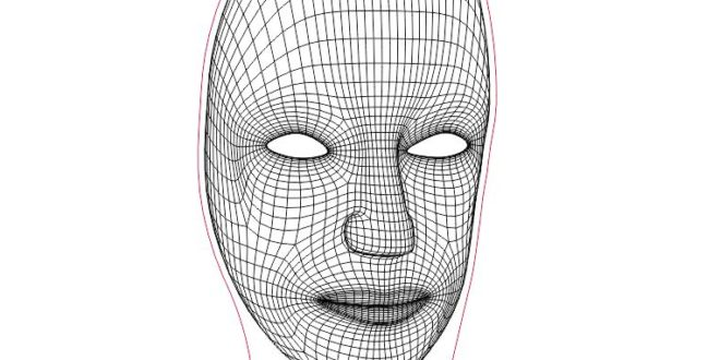Free 3d illusion acrylic laser engraving Mask Human DXF