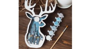 Free cut file cnc Multilayer deer head