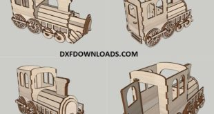 Train organizer Free laser cut download vector