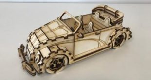 Laser cut plan design Car VW Beetle Convertible