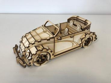 Laser cut plan design Car VW Beetle Convertible
