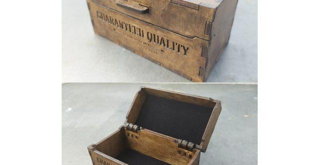 Free wood box 68x128x68 cut dxf file