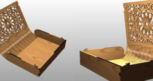 free laser wooden cut box for book