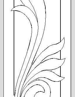 free floral door cnc model dxf