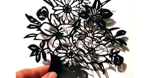 Free silhouette flower bouquet dxf