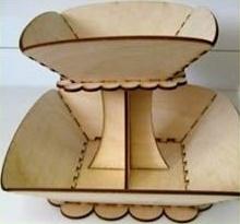 free laser cut square bowl DOUBLE