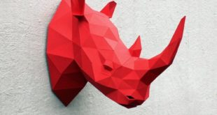 Head Rhino Papercraft PDF file