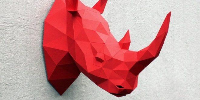 Head Rhino Papercraft PDF file