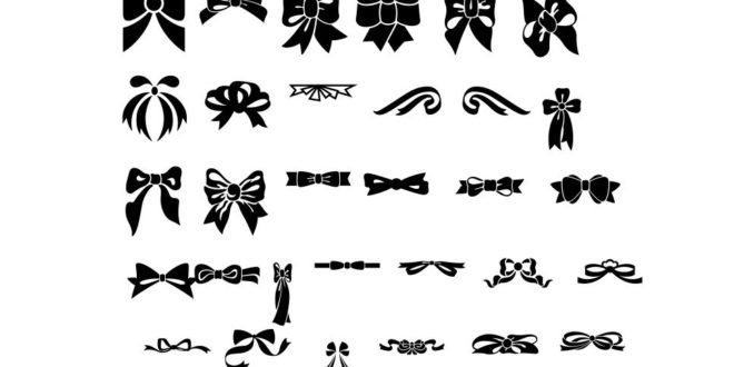Free ties bows SVG vector cricut silhouette download engraving file