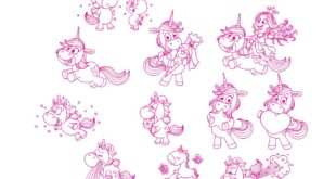 Unicorn kids SVG Vector File