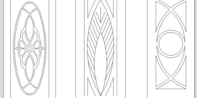 Free Cnc Router Vector Door model 3 pcs