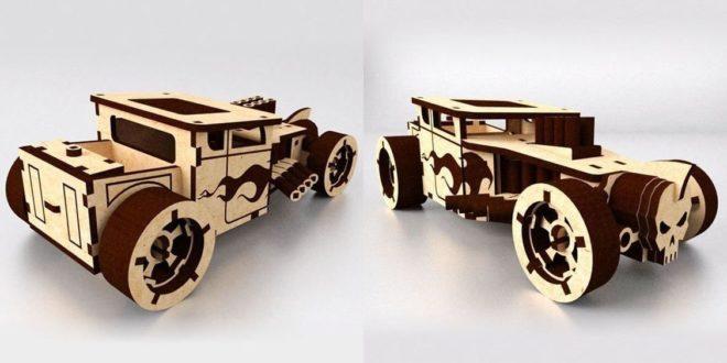 Laser cut Bones Shaker car