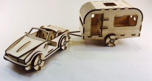 Free Laser Cut Car and Caravan