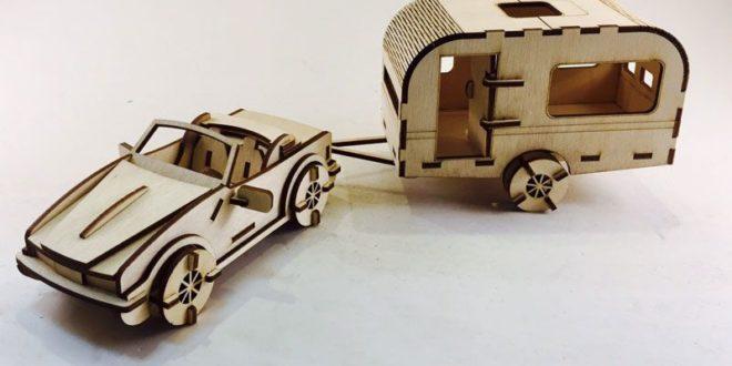 Free Laser Cut Car and Caravan