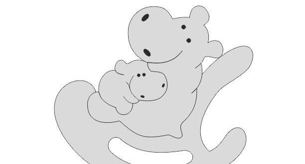 Free Hippos kids puzzle