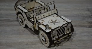 Free dxf cdr laser cut car jeep