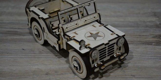 Free dxf cdr laser cut car jeep