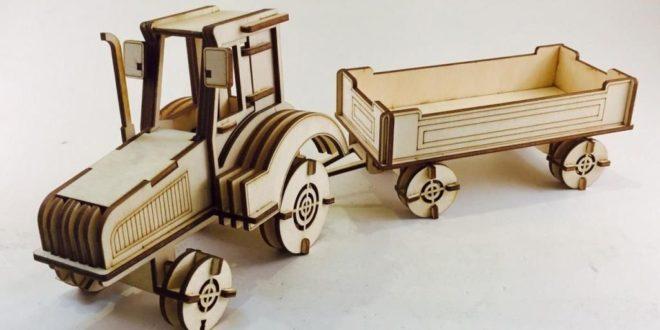 Free laser cut Farm Tractor DXF
