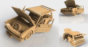 Laser Cut VW Car Puzzle Wood MDF