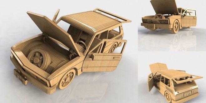 Laser Cut VW Car Puzzle Wood MDF