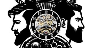 Free barber shop clock laser cut cdr dxf vector files download