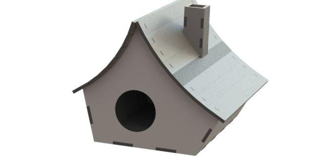 Cnc laser cut Bird house mdf 3mm