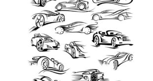 Free vehicles silhouette dxf svg vectors