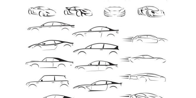 Free dxf svg cars silhouette