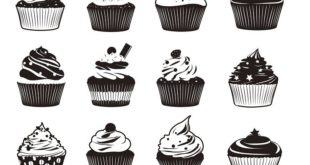Free cupcakes dxf svg vectors