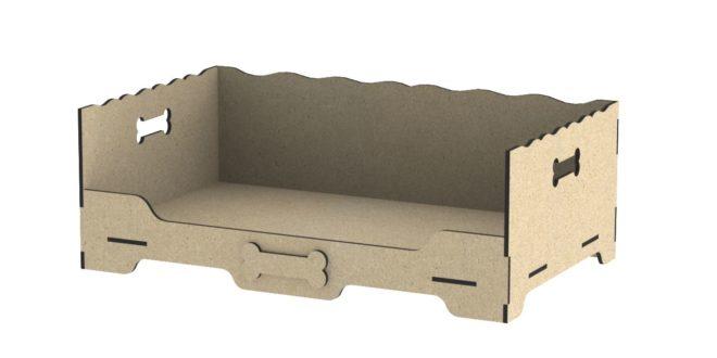 Cnc dxf laser cut dog bed wood mdf 6mm