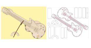 Free guitar stand laser cut