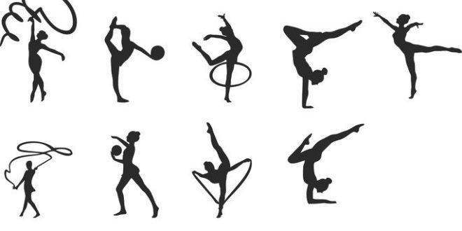 Olympic gymnastics Silhouette dxf