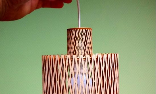 3mm cnc laser cut lamp