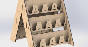 Mdf mobile stand organizer cnc cut design