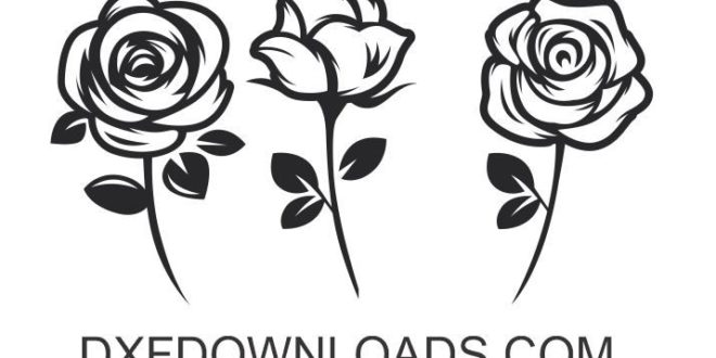 free dxf svg roses