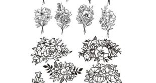 free svg file flowers set
