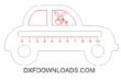 Free car childrens ruler vector