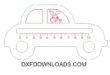 Free car childrens ruler vector