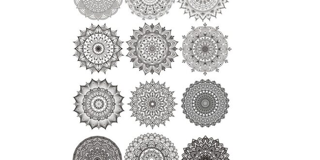 Free Vector Set Mandalas CDR File