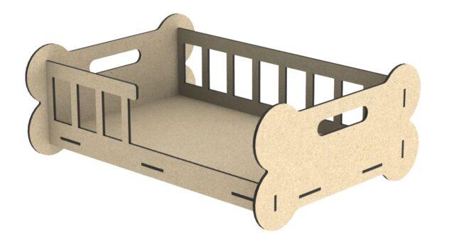 6mm design bed dog cnc cut wood