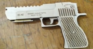 Desert Eagle 50 pistol gun free plan download dxf