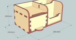 Cnc laser Cutting Design 6mm organizer for office desks