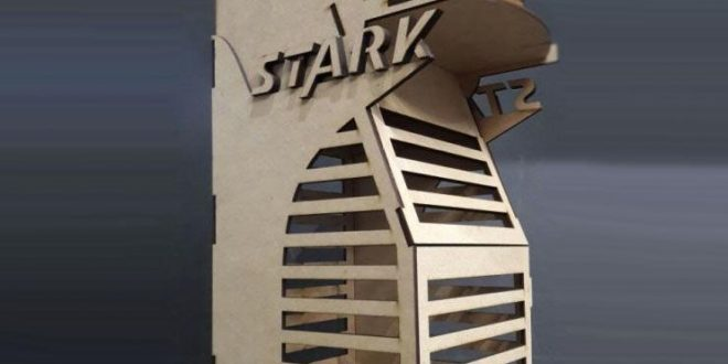 Laser Cut Stark Tower