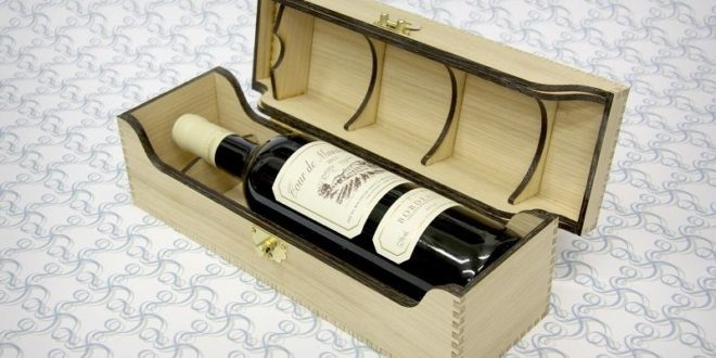 Bottle box for wine gift free plan download